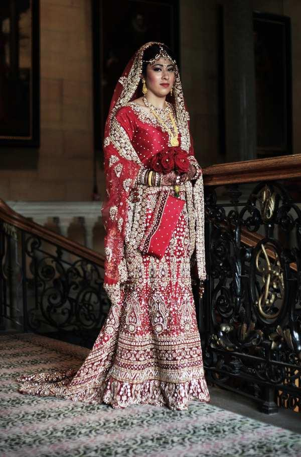 BEAUTIFUL ELEGANCE: Nazmin Begum is stunning in her traditional wedding dress