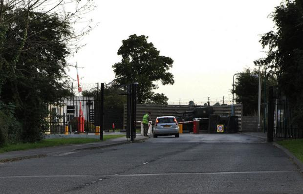 SECURITY CONCERNS: The entrance to Marne Barracks
