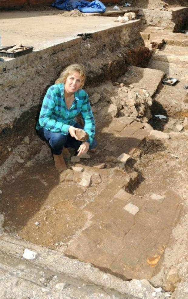 Philippa Langley, from Darlington, at the dig