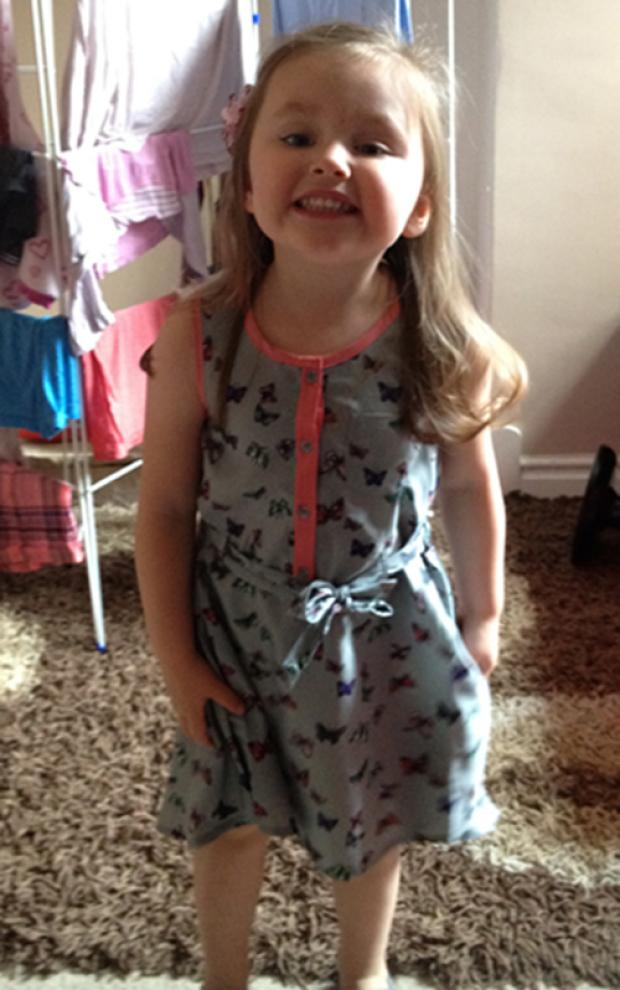 NURSERY TRAGEDY: Three-year-old Lydia Bishop
