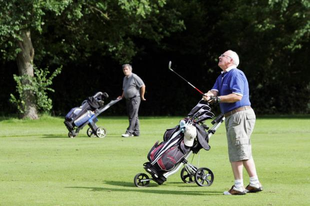 MERGER PLAN: Golfers at stressholme Golf Course, Darlington,