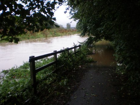 The Skerne and footpath behind Haughton Green