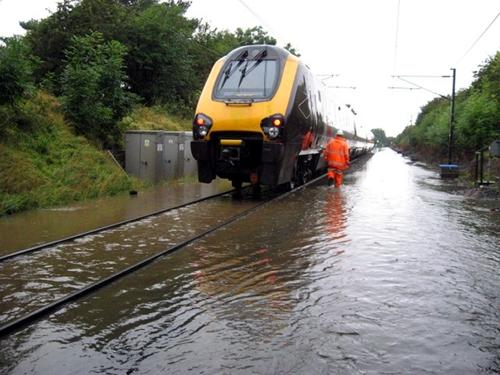 Train stuck near Darlington