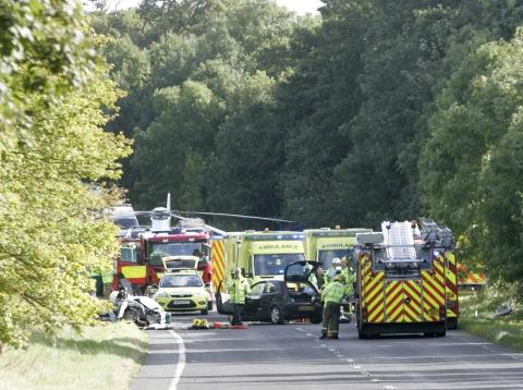 The scene of the accident. Pic: Andy Lamb