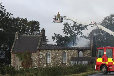 Darlington and Stockton Times: Firefighters at the scene