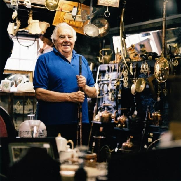 Harry Thomson in his shop Richmond Antiques. Credit: BBC Homes and Antiques Magazine and Cristian Barnett.