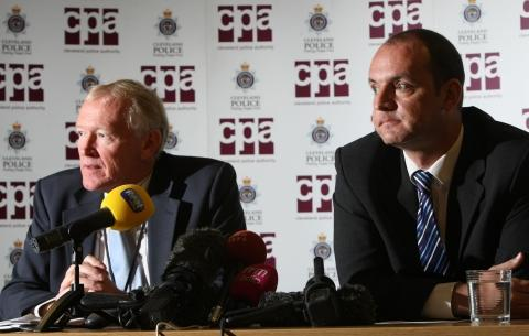 Stuart Pudney, Chief Executive, Cleveland Police Authority(left) and Chair of Cleveland Police Authority, Stuart Drummond (right),