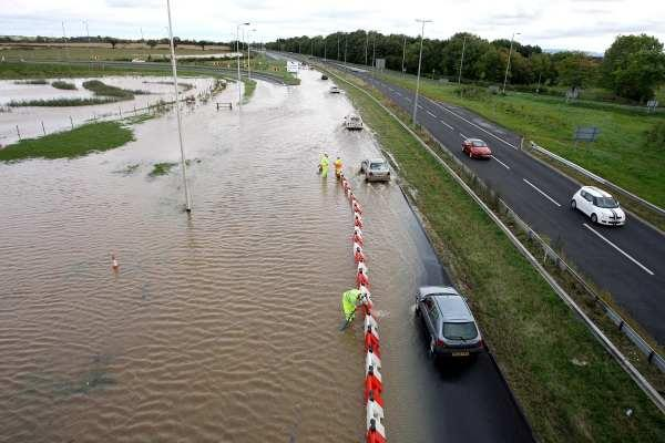 The A66 at Long Newton yesterday