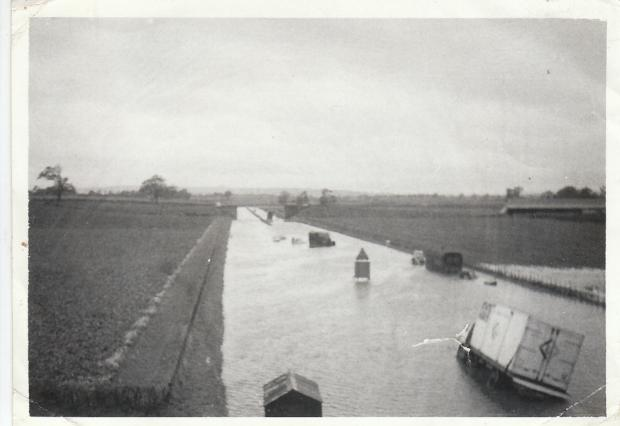 UNDER WATER: The old picture showing the flooding which hit the A1