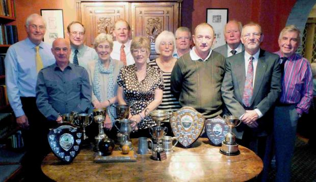 AWARDS: Winners of the club trophies at the Leyburn Bowling Club Presentation Night