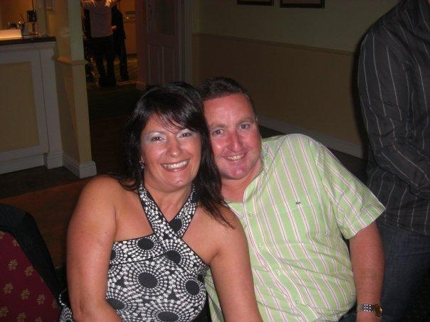 FITTING TRIBUTE: Darren Watson with partner Michelle Parker, who died two years ago from brain tumours
