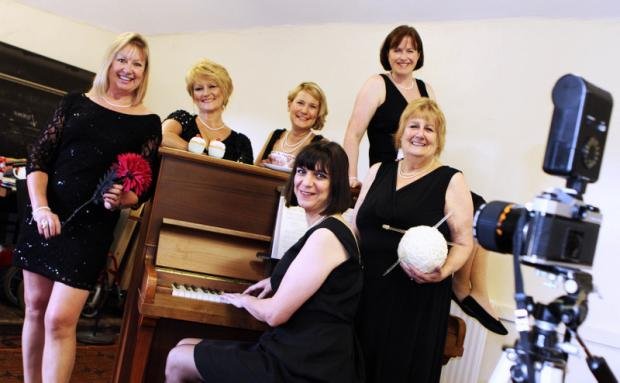 THEATRE DATE: The cast of upcoming show Calendar Girls, by Richmond Amateur Dramatic Society. From left, Moira Mason, Julie Winn, Ruth Shaw, Wendy Morris, Barbara Hughes and Susan Limbert