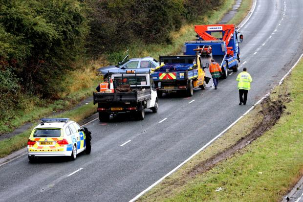 The scene of the accident on the A689 at Sedgefield