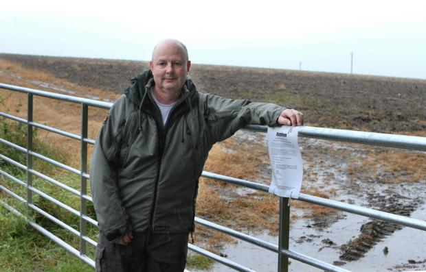 Councillor Mick Griffiths pictured at the field near Eppleby where the wind turbine was planned for