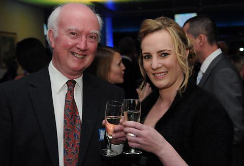 Jen King with Peter Lawrence, father of Claudia Lawrence at the Community Pride Awards in 2012