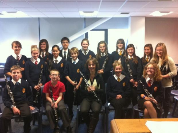 VISIT: Clarinetist Emma Johnson gives a masterclass to Richmond School students