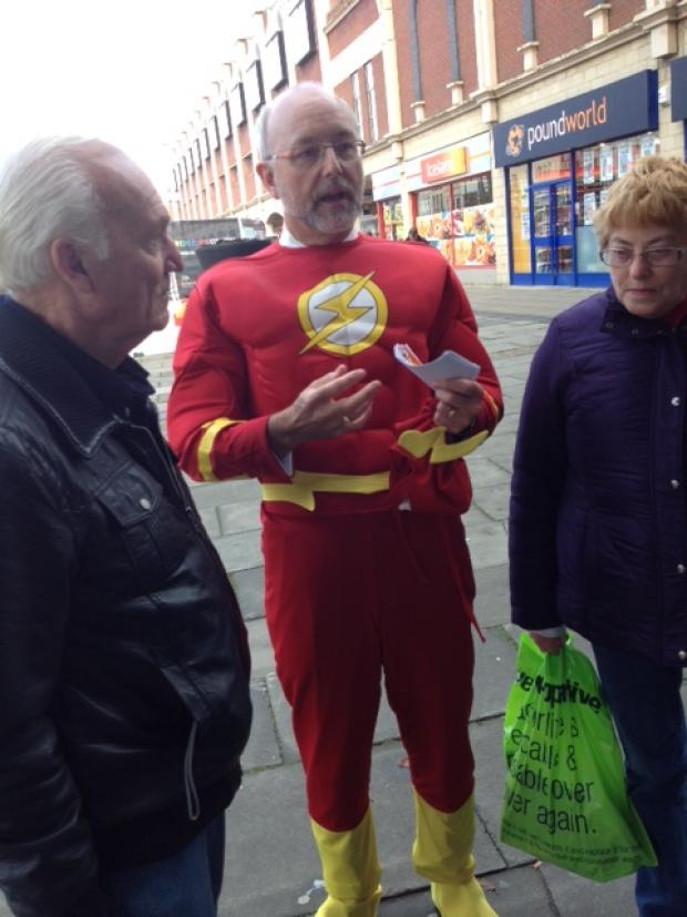 Alex Cunningham MP in his Captain Energy costume