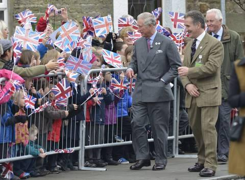 Prince Charles arrives in Middleton-in-Teesdale