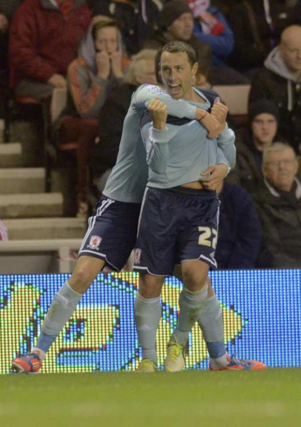 Middlesbrough's Scott McDonald celebrates his winning goal