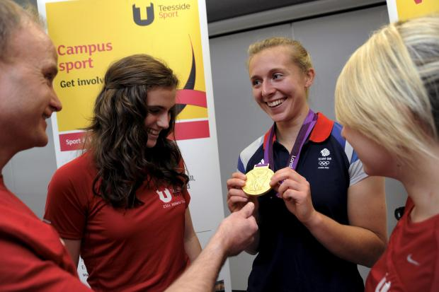 Teesside University Elite Athletes with Olympic gold medal winner Kat Copeland