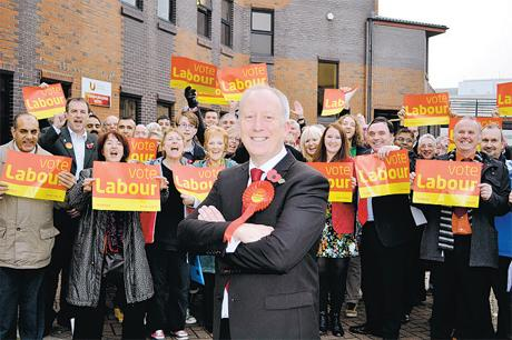 LABOUR CANDIDATE: Andy McDonald with supporters
