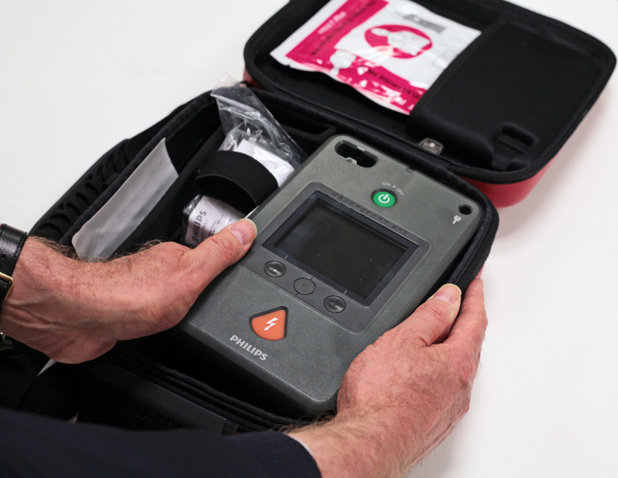 LIFE SAVER: A defibrillator, which costs about £1,000