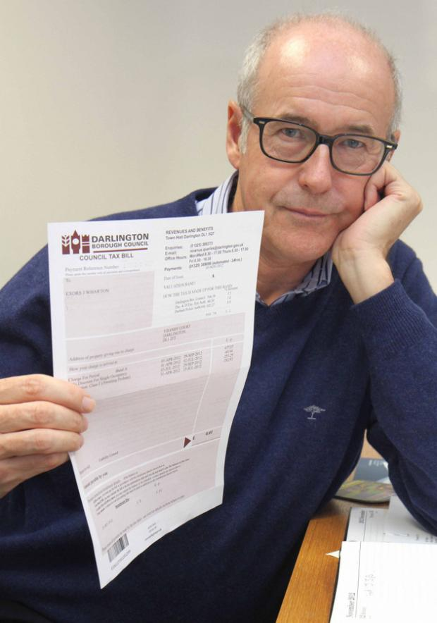 MAKES NO SENSE: Peter Wharton, who received a council tax bill demanding 1p from his late father