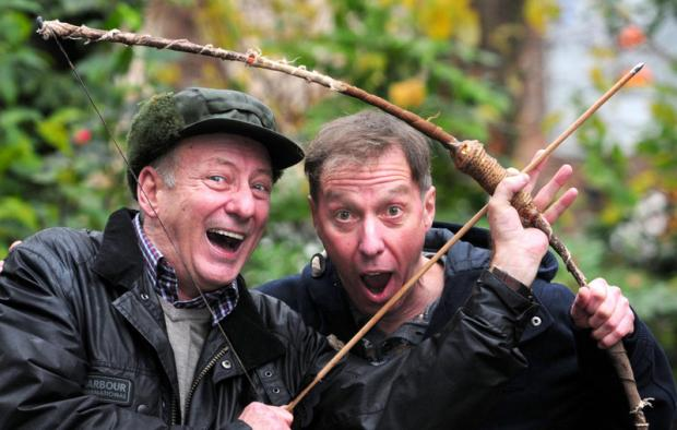 PANTO PAIR: Berwick Kaler and Martin Barrass promote this year's panto