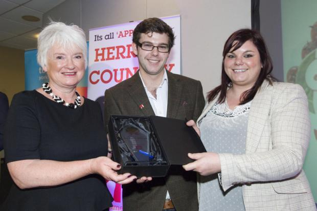 FINEST FLAVOURS: winners after the presentations at Thirsk Racecourse