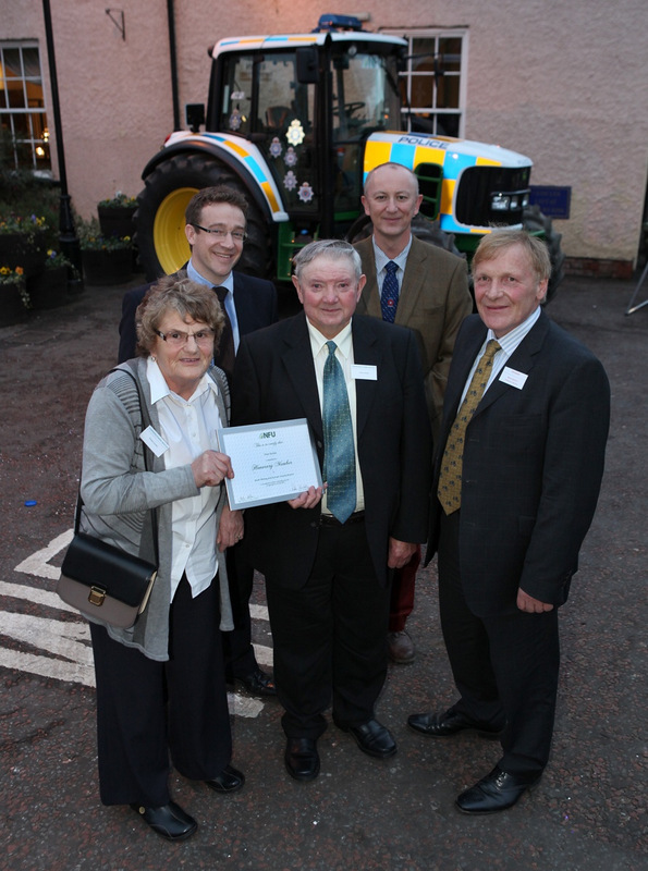AWARD: Pictured from left, Gladys Stubbs; Barney Kay, North east NFU regional director; Peter Stubbs; Peter Waistell and Richard Betton