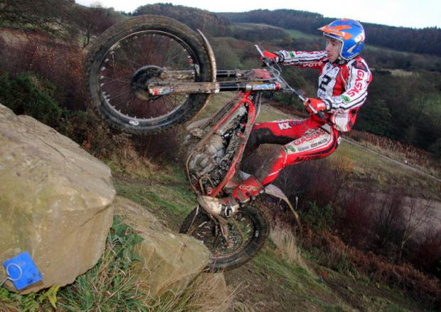 ROCK SOLID: Michael Brown, Cliff Collinson national trial winner at Low North Park, on Sunday