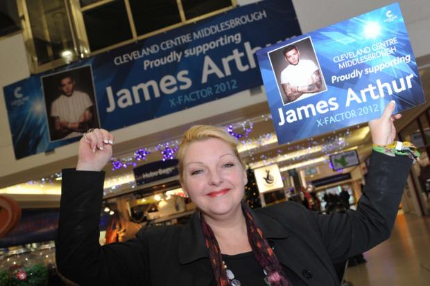 ON HIS WAY UP: James Arthur's mother Shirley Ashworth in Middlesbrough at the weekend