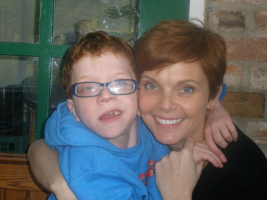 FAMILY SUPPORT: Marcus Weston with his mother, Sam