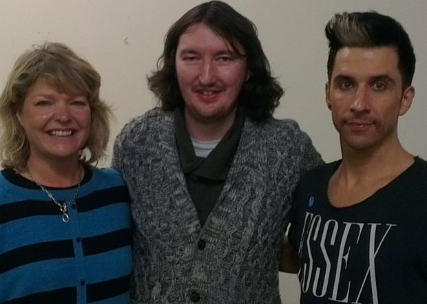 Allison Mckay, managing director at The Forum, Neil Jolly, of Hilarity Bites, and Russell Kane