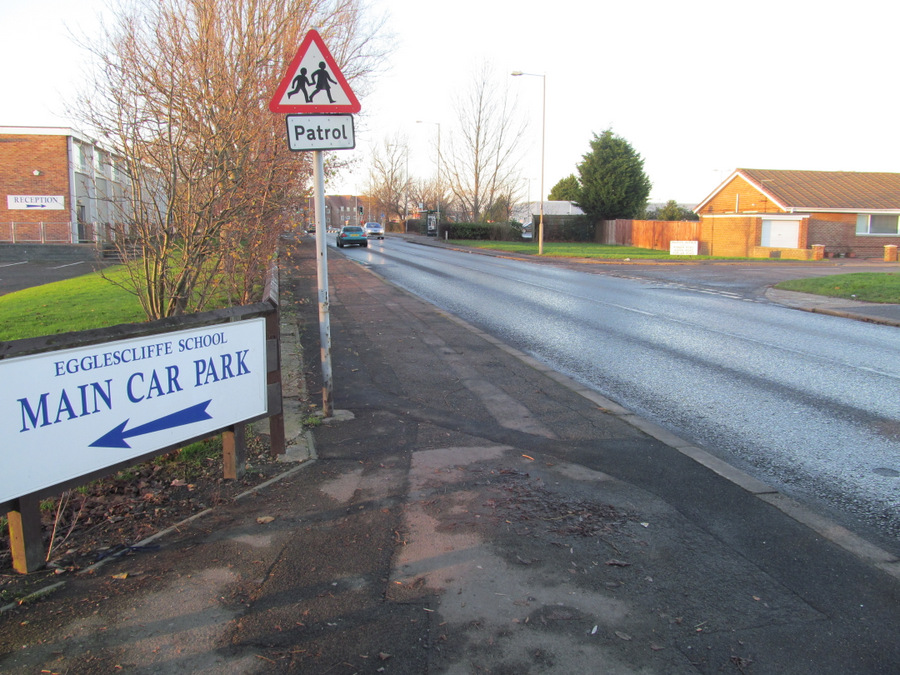 ACCIDENT SCENE: The area where the tragedy happened, in Urlay Nook Road, Eaglescliffe