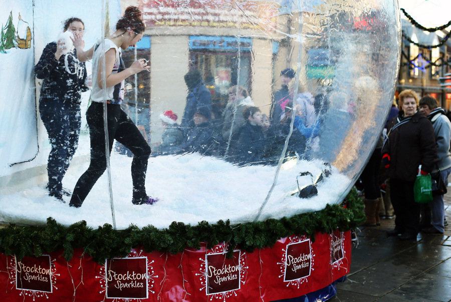 The giant snow globe in Stockton