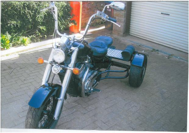 MISSING: The trike stolen from a layby in a remote part of Teesdale.