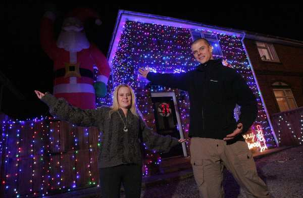 Julie Wright and her husband Jeff have dressed their home on West Auckland Road, Darlington with over 3000 festive lights for Christmas.