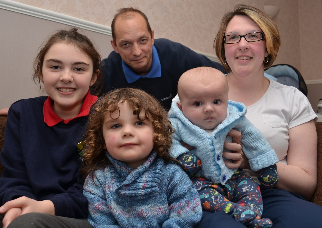 SAFETY RULING: Neil and Kelly Kirkby, with children Ebony, Alysscia and baby Mason.