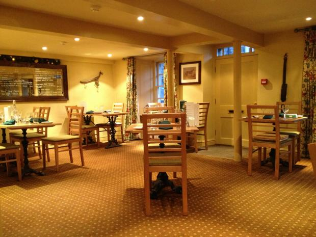 BRIGHT IF CHILLY: Pratt's dining room at the King's Arms, Askrigg