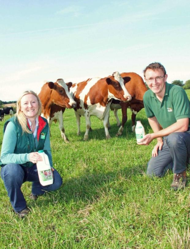 Acorn Dairy directors Caroline and Graham Tweddle