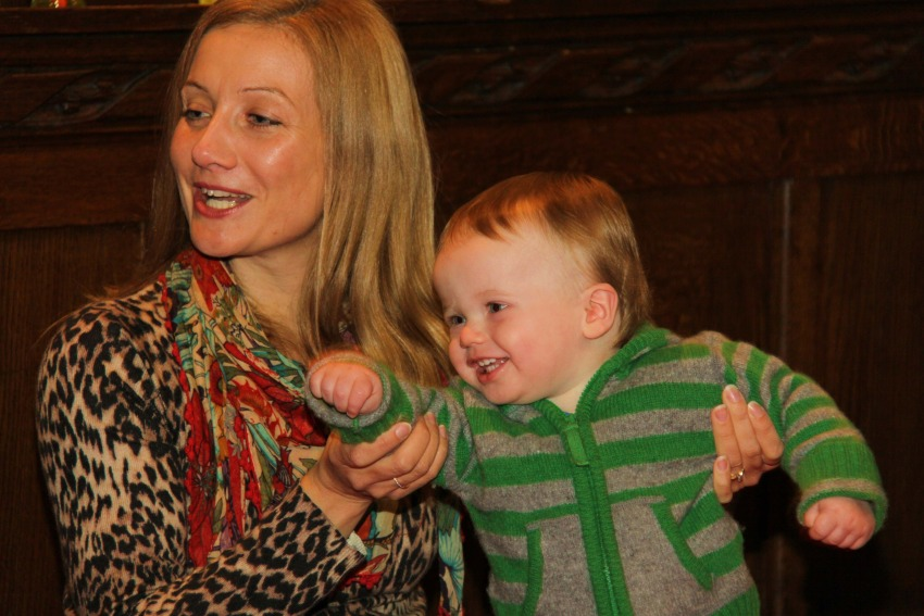 Joanne Benzies and son William enjoy the latest mums and babies group in Stockton