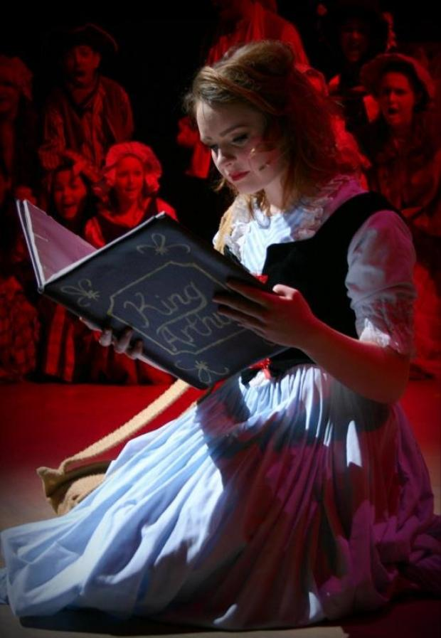 Rebecca Tebbett at Belle in Stockton Riverside College's production of Beauty and the Beast.
