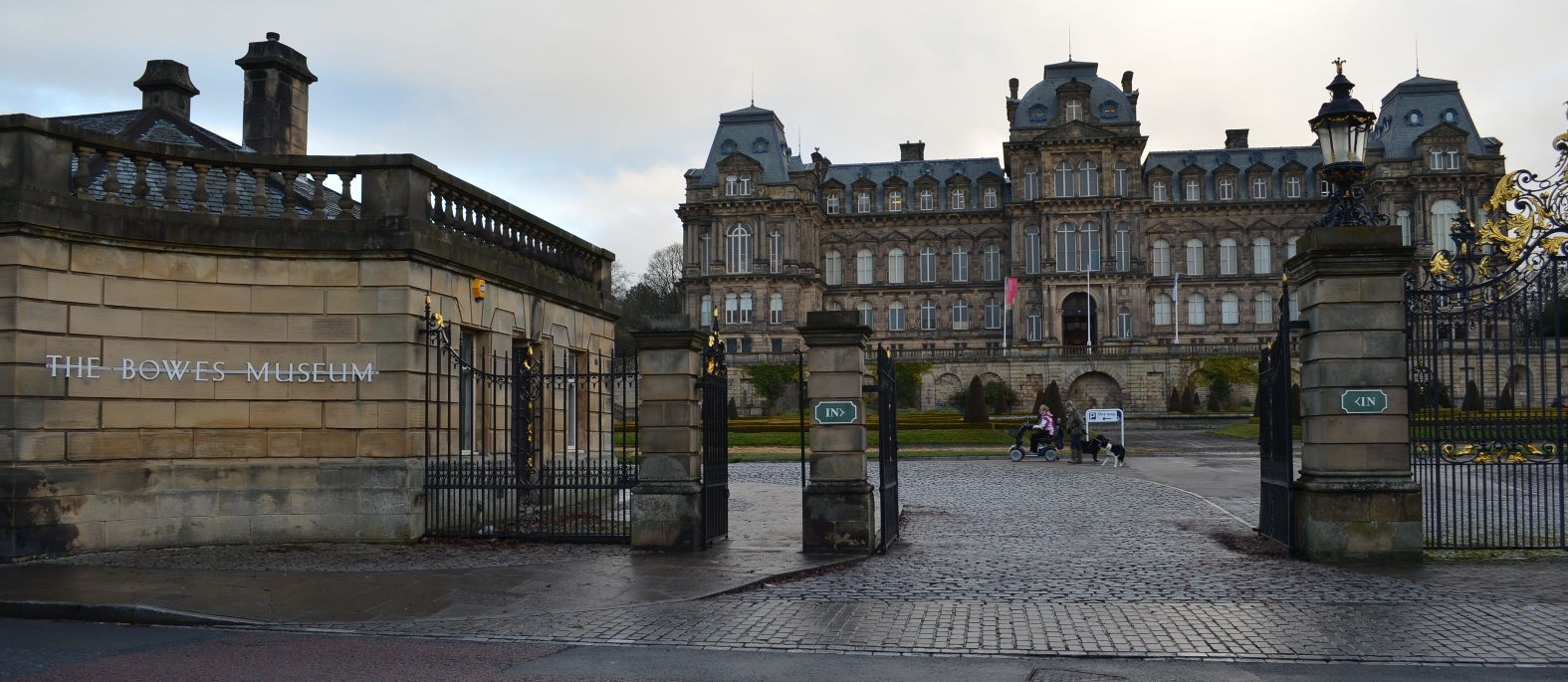 LOCK OUT: Police are urging officials at the Bowes Museum to close the gates to the public grounds at night to deter anti-social behaviour.