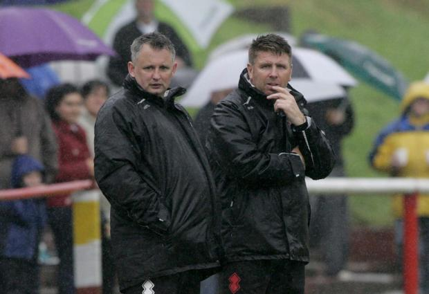 FOCUS: Martin Grey, right, and his assistant Brian Atkinson
