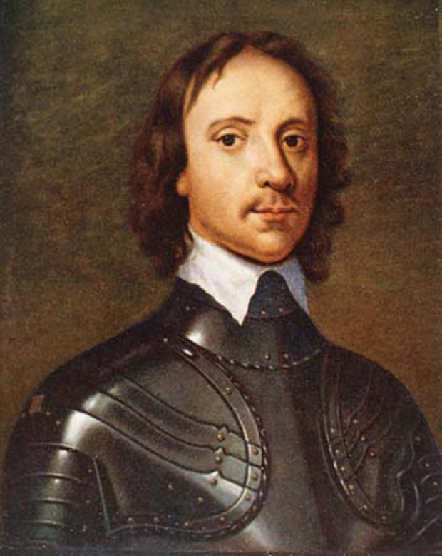OLIVER CROMWELL: not a big fan of Christmas