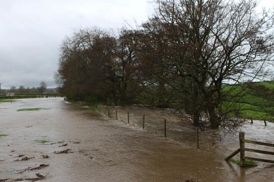 DESTRUCTION: The flooded fields near Staindrop