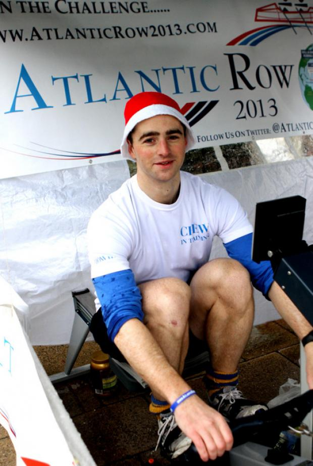 PULLING POWER: Dan Howie, from Northallerton, during his 12-hour row