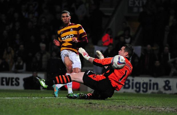 Boro bound? Middlesbrough are keeping an eye on Nahki Wells' situation at Valley Parade