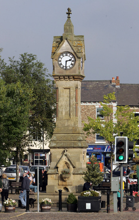 TRIBUTE: The clock in the market place at Thirsk, which was built in 1896 to commemorate the wedding of the Duke of York to Princess Mary of Teck
